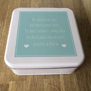 Shabby Personalised chic AUNTIE AUNTY AUNT Cake Biscuit Tin gift ANY NAME BAKING